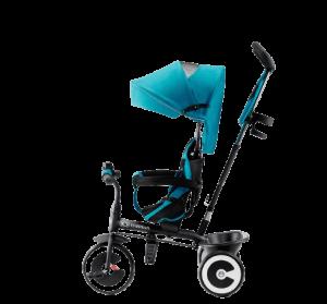 tricycle Aston avec capote bleue