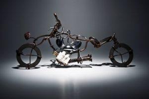 équipement moto décomposé