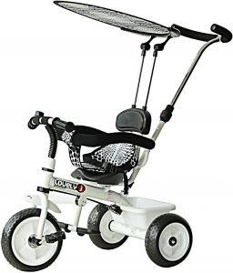 tricycle couleur noir et blanc