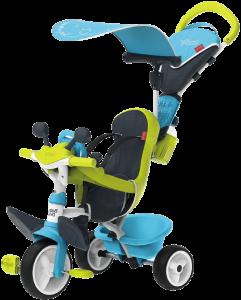 tricycle Smoby bleu et vert driver confort