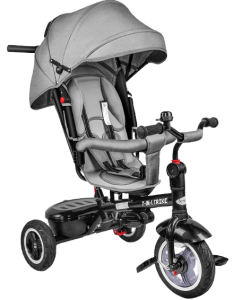 tricycle gris avec barre amovible