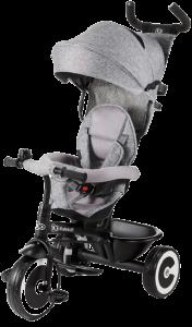 tricycle gris avec roues blanches et noires