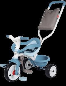 tricycle bleu avec arceau de sécurité