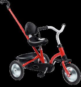 Vélo à 3 roues original rouge et noir