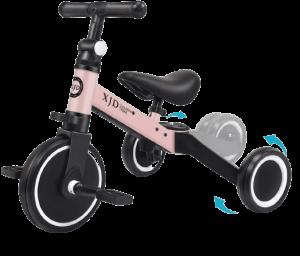tricycle évolutif rose et noir XJD