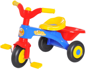 jouet en plastique bleu jaune et rouge