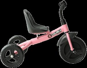 triycle rose avec des roues noires