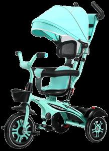 tricycle bébé en bleu turquoise