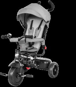 tricycle gris avec les roues noires