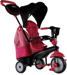 triycle pour bébé rose et noir multifonction