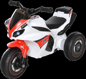 jouet moto rouge et blanche