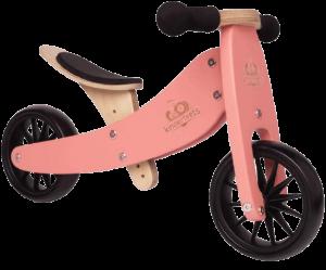 draisienne rose avec des roues noires