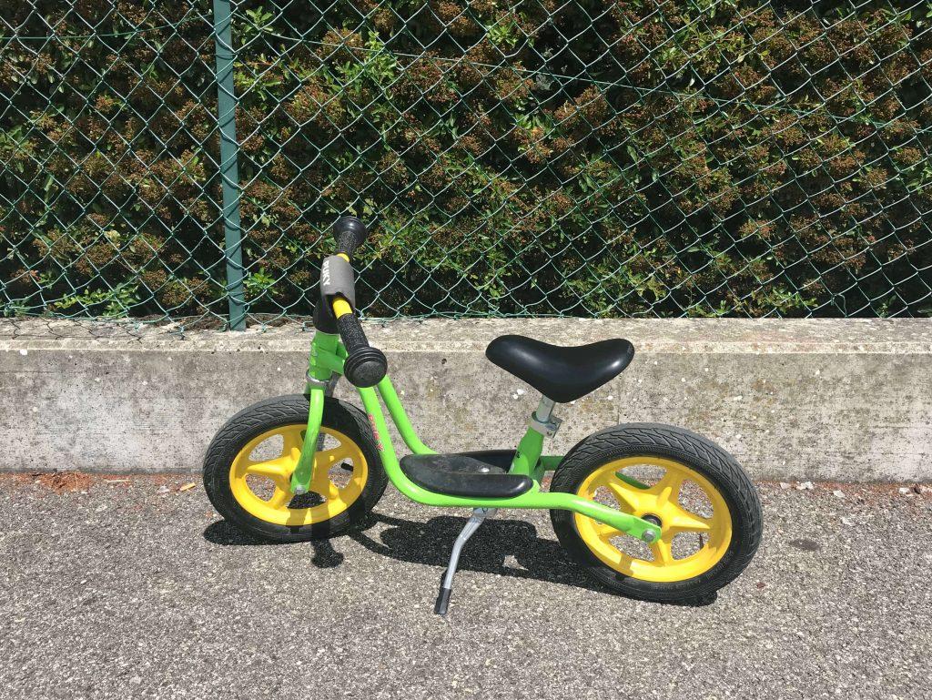 draisenne pour enfant verte