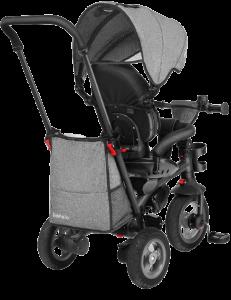 tricycle gris en vue arrière