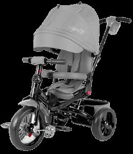 tricycle gris avec un superbe auvent, il est évolutif et pliable