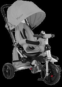tricycle complet gris avec de multiples accessoires